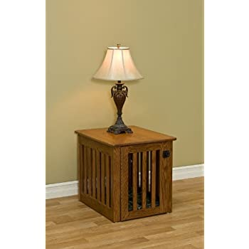 Amazoncom Wooden Dog Crate Decorative Dog Crate End Table Made