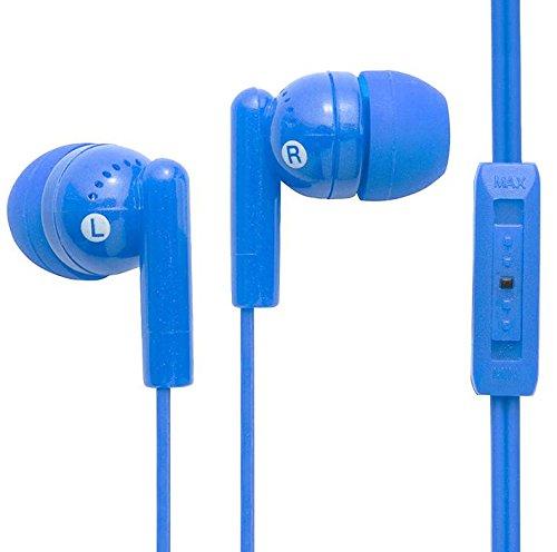Kandy Plus Earphones+VOL Control Blue Connector Type 3.5mm Jack Plug Gold Plated Drive Unit Type 10m
