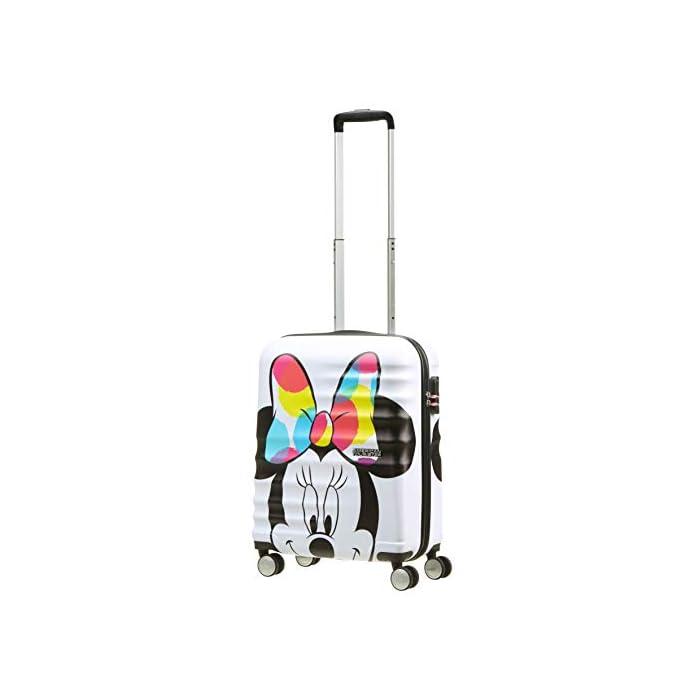 41USfJye%2B7L Cintas cruzadas, separador con cremallera y bolsillo que facilitan organizar el equipaje Diseño moderno y colorido de Mickey y Minnie Superficie texturizada que protege de los arañazos