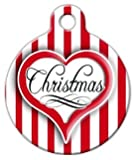 Christmas Heart - Custom Pet ID Tag for Cats and Dogs