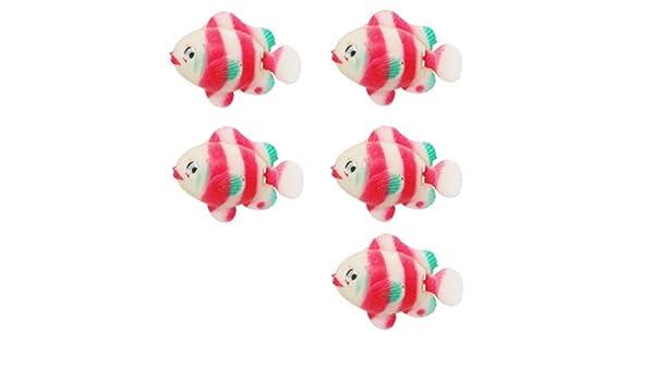 Amazon.com: eDealMax Fish Jardin flotante de plástico acuario Ornamental: Pet Supplies