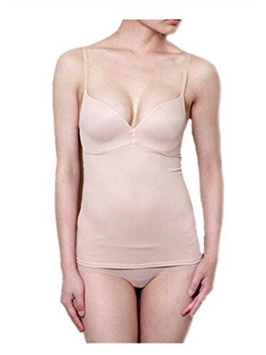 Leright Women's Shapewear Seamless Camisole Firm Control Waist Slimmer Tank Top, Nude, Large