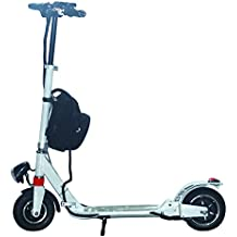 AGDA Electric Scooter Adult Lightweight Folding Portable Scooter Aluminum Lithium Powered Electric Motor bike Scooter (White)
