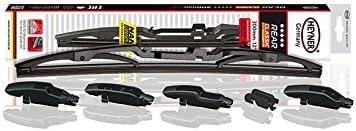 Kiia Rio Models 2011 To 2016 Heyner Germany Windscreen Wiper Blades Exclusive Spoiler Full Set Front Rear HES2616H10HC RA