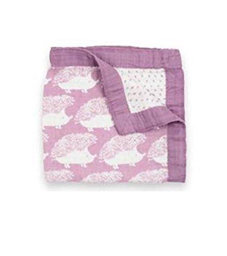 Milkbarn Mini Lovey Baby Blanket (Lavender (Purple Hedgehog)