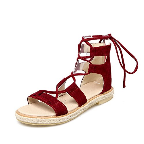 1TO9 Womens Cold Lining Dress Nubuck Urethane Sandals MJS03256 Red Q7s07