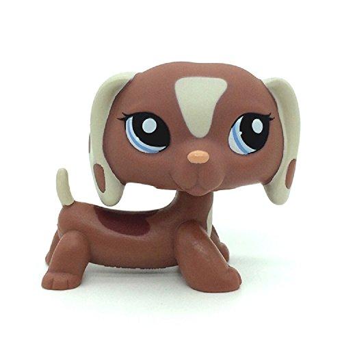 p Rare Brown Tan Dachshund Dog Puppy Figure Toy LPS #1631 ()
