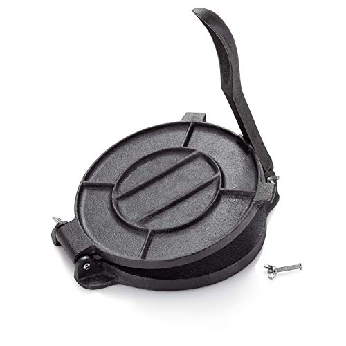 Cast Iron Tortilla Press, Tortilla, Roti, and Flatbread Maker (Pre-Seasoned) - makes fresh Corn or Flour Tortillas for grilling by Impeccable Culinary Objects (ICO) (Image #5)
