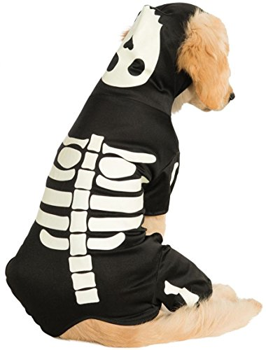 Rubie's Costume Co Pet Costume, Small, Glow in The Dark Skeleton Hoodie -