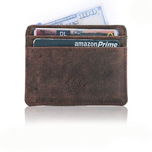 Slim wallet rfid front pocket minimalist rfid blocking dual -