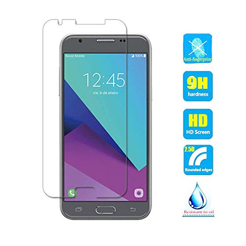 2pcs Clear Tempered Glass Crystal Screen Protector for Samsung Galaxy J3 2017 Prime SM-J327 J327R4 J327T1 J3 Amp Prime 2 SM-J327AZ J3 Emerge J327A J327P J3 V 2017 J327V Scratch Resist 9H Hardness