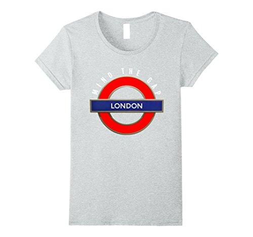 London Underground Subway System (Womens Underground T-Shirt London Tube Sign British Subway UK XL Heather Grey)