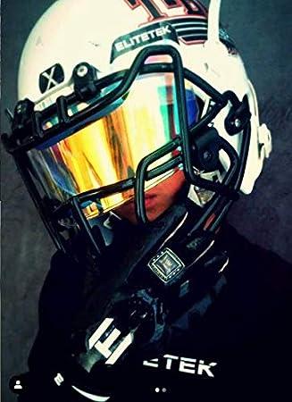 EliteTek Color Football /& Lacrosse Eye-Shield Facemask Visor Fits Youth /& Adult Helmets