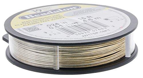 Beadalon Silver Plated Wire-19 Strand, .024, 15ft - BDC-762.24 by Beadalon (Image #3)