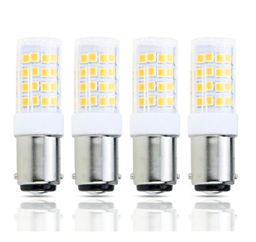 Lamsky 4-Pack Led BA15D Double Contact Bayonet Base AC110-130V 4W Led Light Bulb,T3/T4/C7/S6,Warm White 2700K,LED Halogen Replacement Bulb,No-Dimmable - Ba15d 130 Volt T4 Base