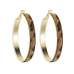 Qings Hoop Earrings Rose Gold, Gift for Women and Girl