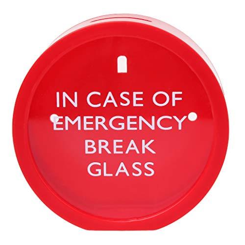 (SimpleLif Emergency Money Box in Case of Emergency Break Glass Novelty Savings Coin)