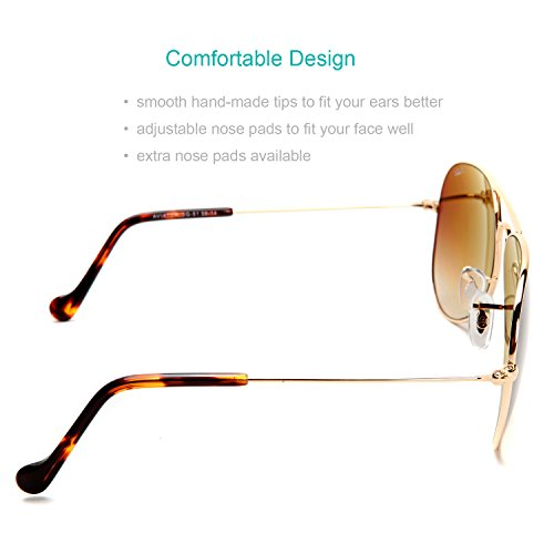 O-Let Aviator Sunglasses Small for Women Men Fashion Driving Fishing with Glass Lens