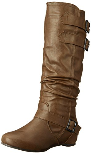 Brinley Co Womens Cammie-WC Slouch Boot Taupe