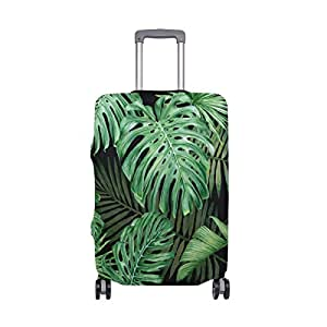 Mydaily Tropical Palm Leaves Luggage Cover Fits 18-22 Inch Suitcase Spandex Travel Protector S