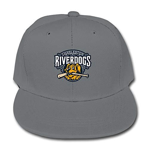 7a70d16b LWOSD Childs Baseball Cap, Charleston RiverDogs Plain Cotton Baseball Cap  Sun Protect Ajustable Hats for Boys Girls Gray