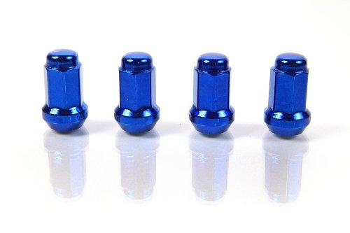 BLUE - JSK - 7-Sided Heptagon - Plated Steel Racing Wheel Lock LUG NUT for MITSUBISHI 2002-2007 LANCER PZ, RALLY, RALLIART