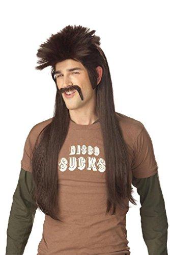 Cigar Girl Black Wig (Fancy Mississippi Mud Flap Adult Trailer Trash Costume Wig - Dark Brown)