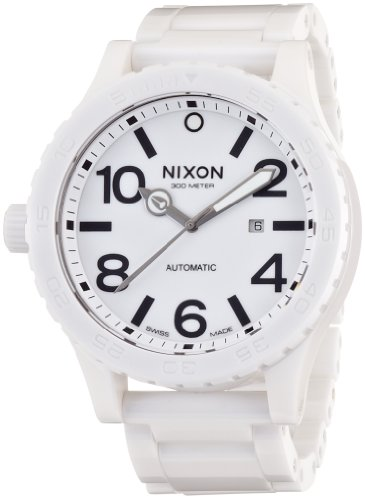 Nixon Men's Ceramic 51-30 Analog Watch, Color: All White