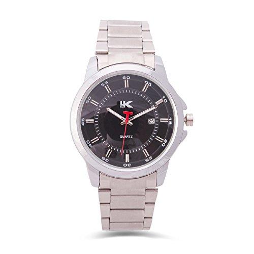 Yaki Klassische Herrenuhr Uhrenmarken Geschäfts Herrenarmbanduhr Luxusuhren Schwarz Ziffernblatt Quarz Uhren mit Datum Metallarmband