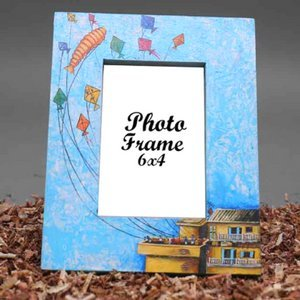 Engraved Matte Silver Photo Frame - 9