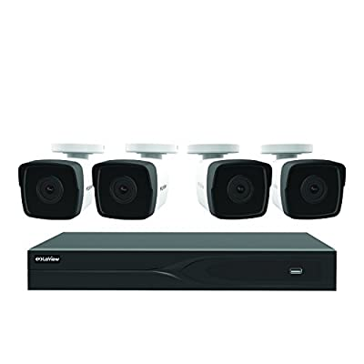 LaView 8 Channel 5MP Business Home Security Cameras System 1TB HDD Surveillance DVR 4 5MP Color Night Vision Bullet Cameras from LaView