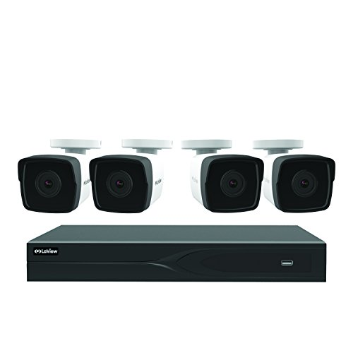 LaView LV937F44H5-T2 8-channel 5MP IP 2TB HDD Surveillance DVR with (4) 5MP Bullet Cameras
