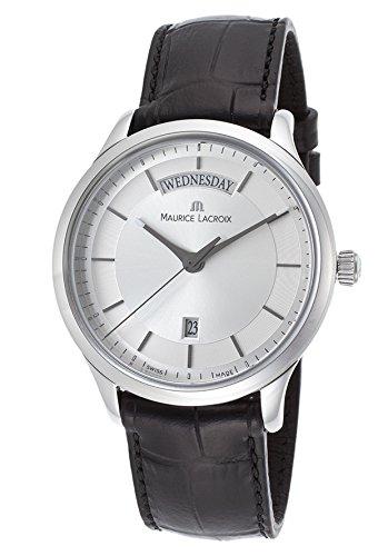 mens-les-classiques-black-genuine-leather-silver-tone-dial