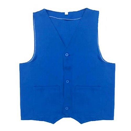 TopTie Supermarket Volunteer Uniform Vest / Security Services Workwear Vest BLUE-XL
