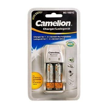 Camelion BC-1021 - Cargador con 2 pilas AA (2300 mAh ...
