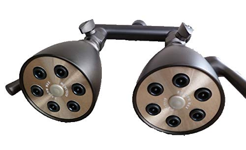 Dual Giessdorf 6 Jet Shower Heads – Oil Rubbed Bronze