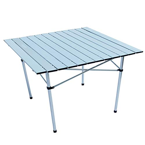 WPCBAA Mesa plegable portatil al aire libre con patas enrollables Mesa liviana con bolsa de almacenamiento Tarjeta de picnic para barbacoa Mesa para acampar Hogar Escritorio pequeno mesa plegable al a