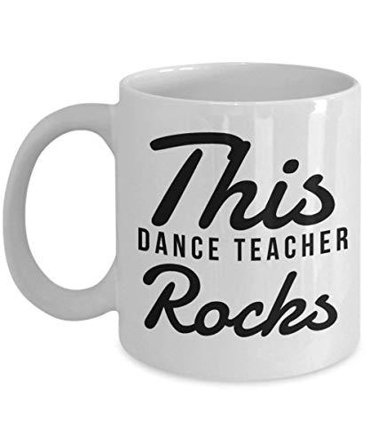 Large Mug Dance (Gifts for a Dance Teacher - This Dance Teacher Rocks, Novelty Appreciation Birthday Christmas Gift Ideas, 11 Oz Coffee Mug)