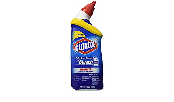 Clorox Toilet Bowl Cleaner, Value Pack - lluvia limpia - 24 oz - 3 PK: Amazon.es: Hogar