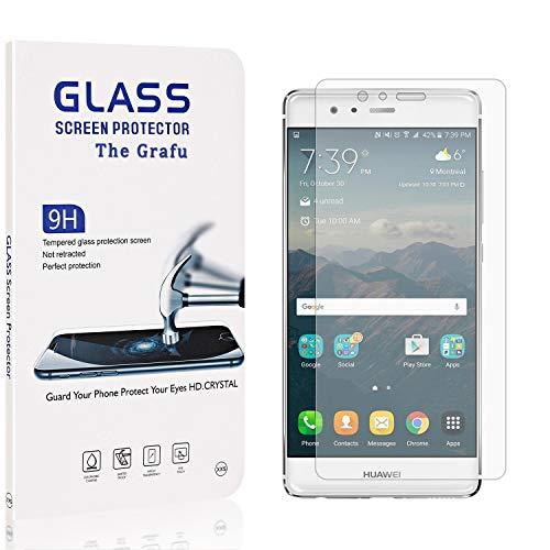 The Grafu Displayschutzfolie Kompatibel mit Huawei P9, 9H Härte, Blasenfrei, Anti Kratzen Schutzfolie aus Gehärtetem Glas für Huawei P9, 4 Stück