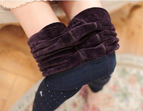 GBHNJ Leggings Plus Épais Coton Transparent De Peut Se Porter À LExtérieur WomenS LAutomne Et LHiver Gris Thermique F(Poids Approprié 80-130 Catty)
