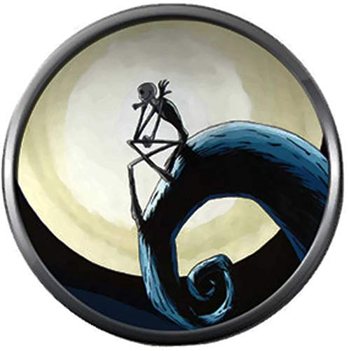 Sitting Jack Skellington On Spiral Hill Halloween Town Nightmare Before Christmas 18MM - 20MM Charm for Snap Jewelry