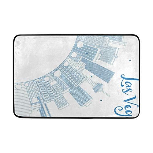 DoubleCW Las Vegas Anti Fatigue Kitchen Floor Mat, Comfort Heavy Duty Standing Mats,Waterproof Non Slip Washable for Indoor Outdoor (23.6x15.7 inch)