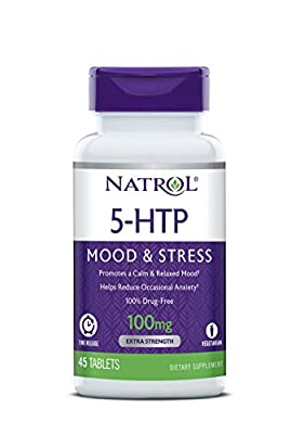 Natrol 5-HTP Time Release Tablets, 100mg, 45 Count