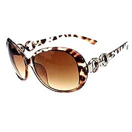 BestMall Shades Oversized Eyewear, Leopard&Tawney, One Size