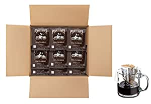 Twin Peaks Coffee Colombian Single Serve Pour Over Drip Bag Medium Roast Coffee - 100 Single Cup Pouches