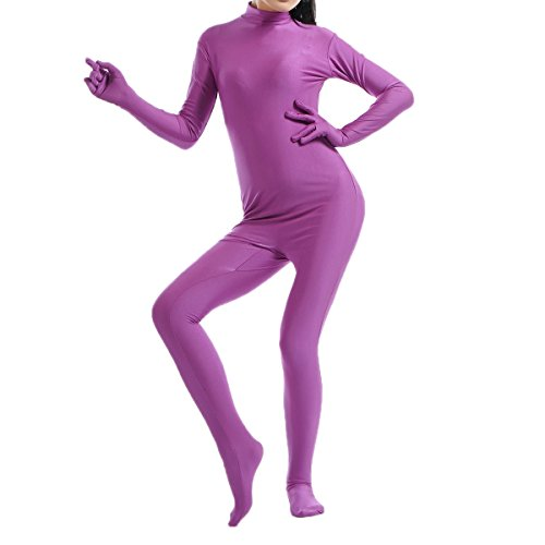 - 41USppbAbwL - Quesera Women's Zentai Bodysuit Full Body One Piece Stretchy Lycra Spandex Unitard
