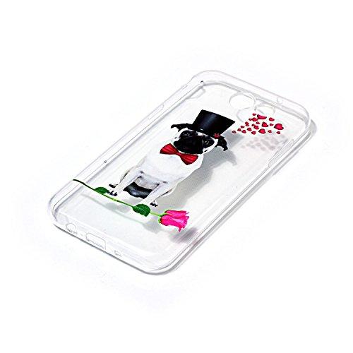 Funda Galaxy J3 prime,SainCat Moda Alta Calidad suave de TPU Silicona Suave Funda Carcasa Caso Parachoques Diseño pintado Patrón para Carcasas TPU Silicona Flexible Candy Colors Ultra Delgado Ligero G Perro caballero