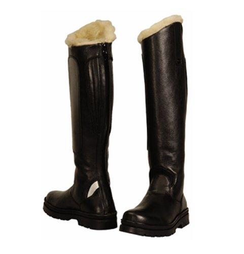 TuffRider mujeres de la tundra forro polar Tall botas en cuero sintético, negro, 11delgado 3060