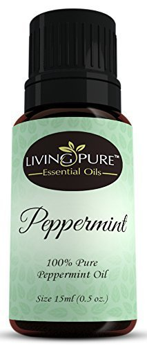 Living Pure Essential Oils #1 Peppermint Oil - Aid Indigestion & Freshen Rooms - Natural Headache Relief - 100% Organic Therapeutic & Aromatherapy Grade, 15ml